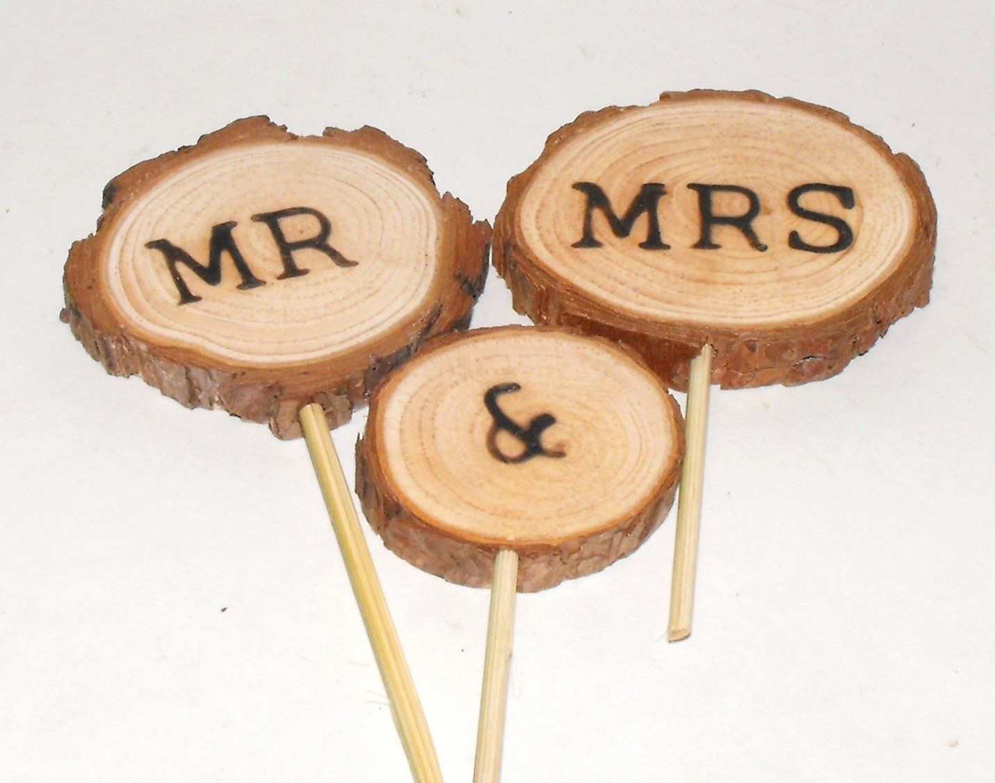 Mr Mrs Wedding Cake topper Wood slice Fall / Winter / Summer ...