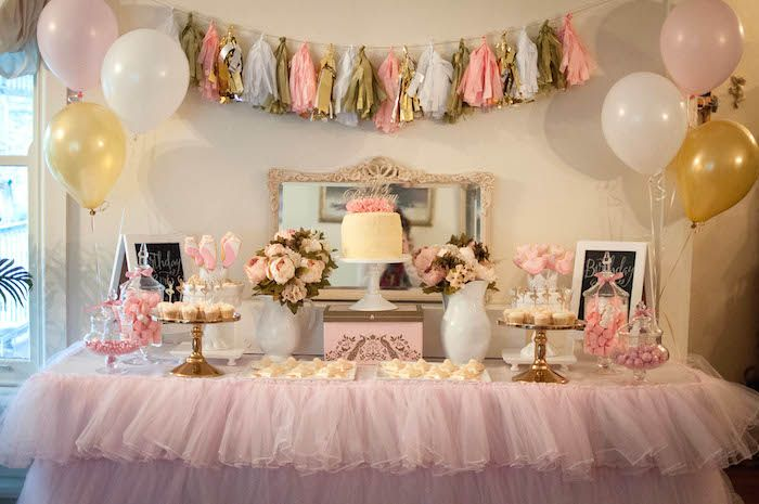Pink Gold Ballerina Birthday Party White Party Decorations Gold Party Decorations Ballerina Birthday