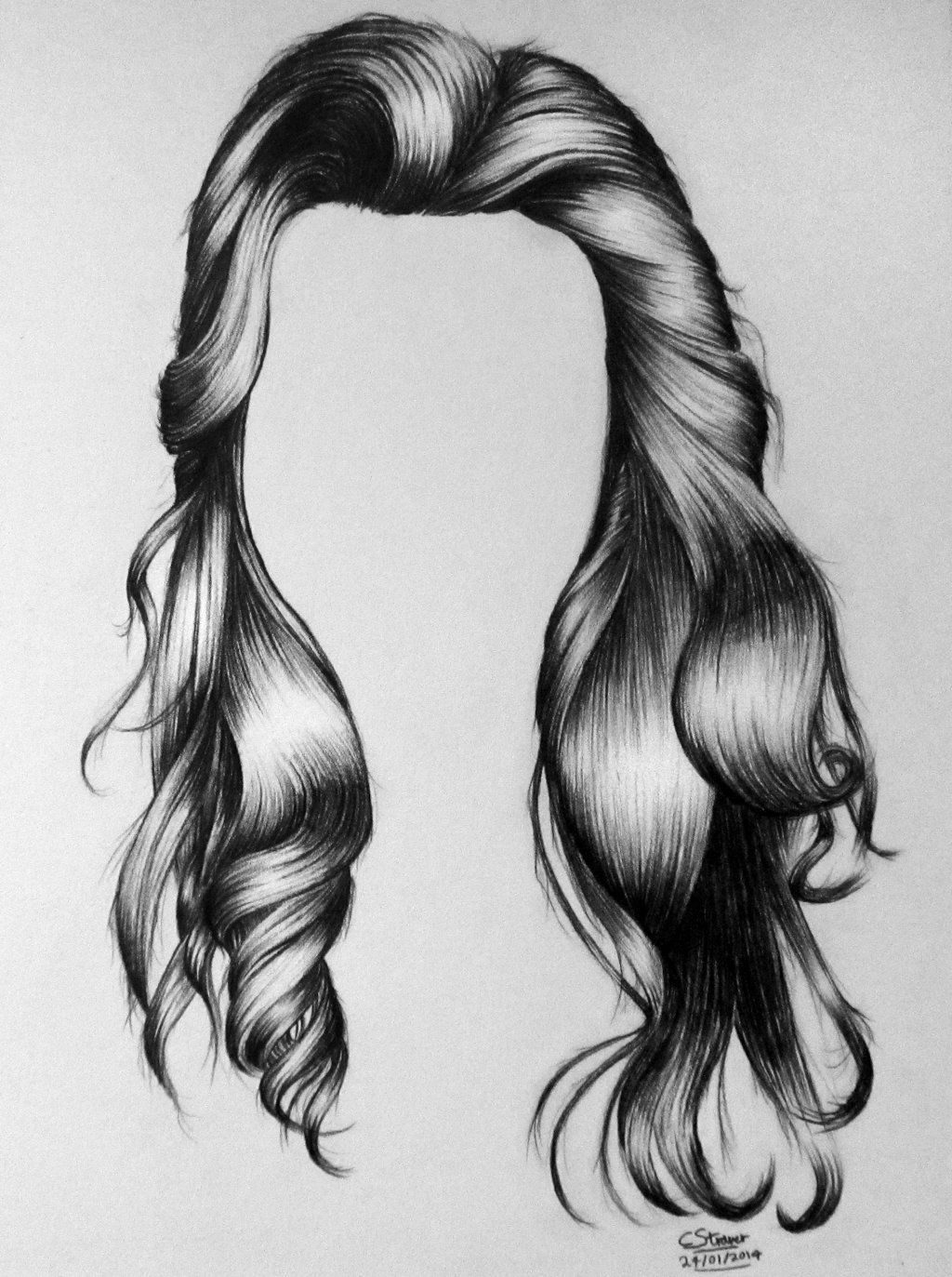 Long very hair drawings