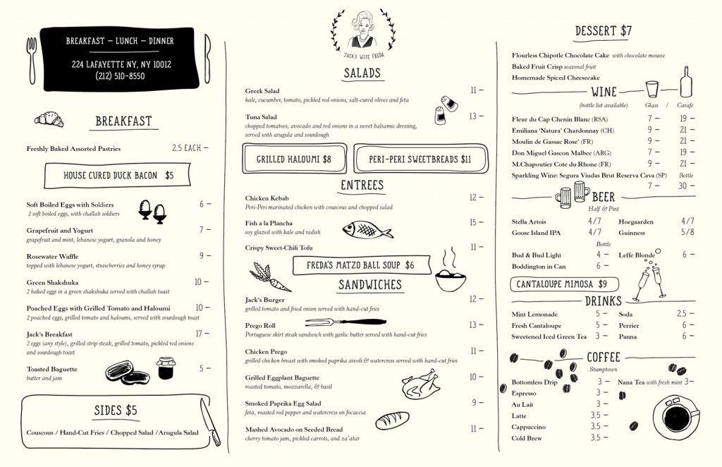 menu comme au bistrot en set de table sur feuille A3 pour le ...