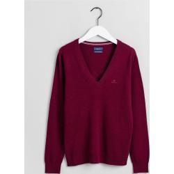 Photo of Gant Superfeiner Lambswool V-Neck Sweater (Rot) GantGant