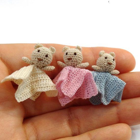 Miniatur Sicherheit Decke mit Bärchen für Puppenhaus im   Miniature ...