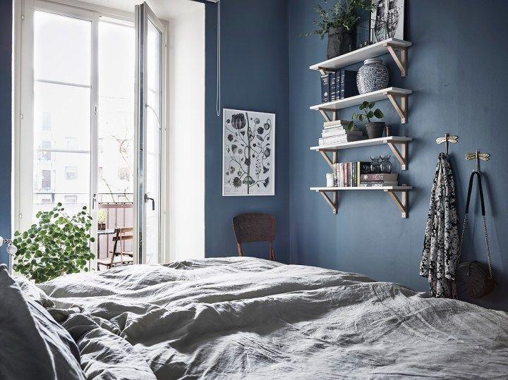 Post: Dormitorio Nórdico Azul Con Balcón   U003e Blog Decoración Nórdica, Decoración  Dormitorio