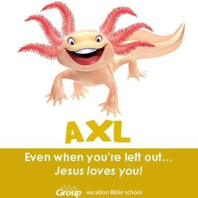 Axl the axolotl VBS 2014 Pinterest