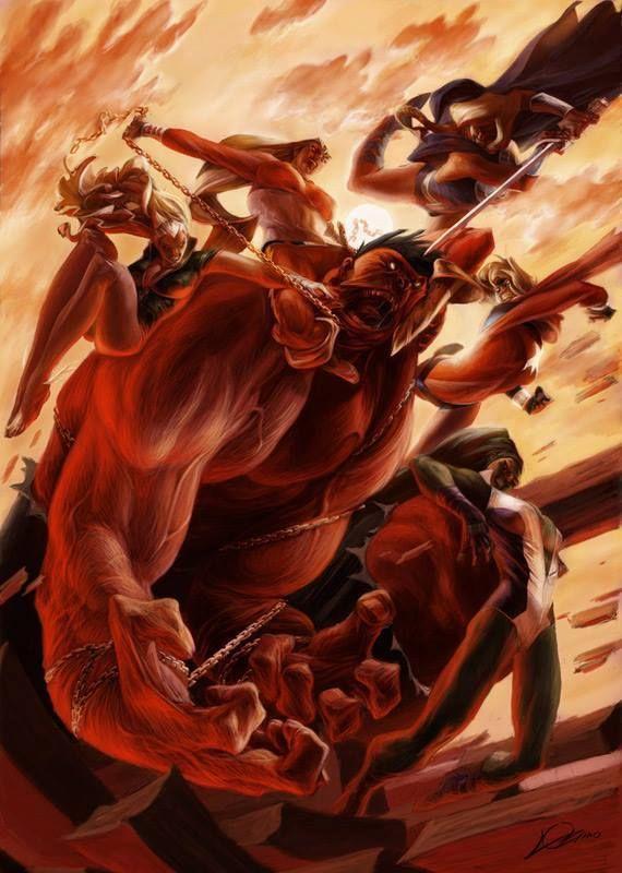 Red Hulk by Alexander Lozano *