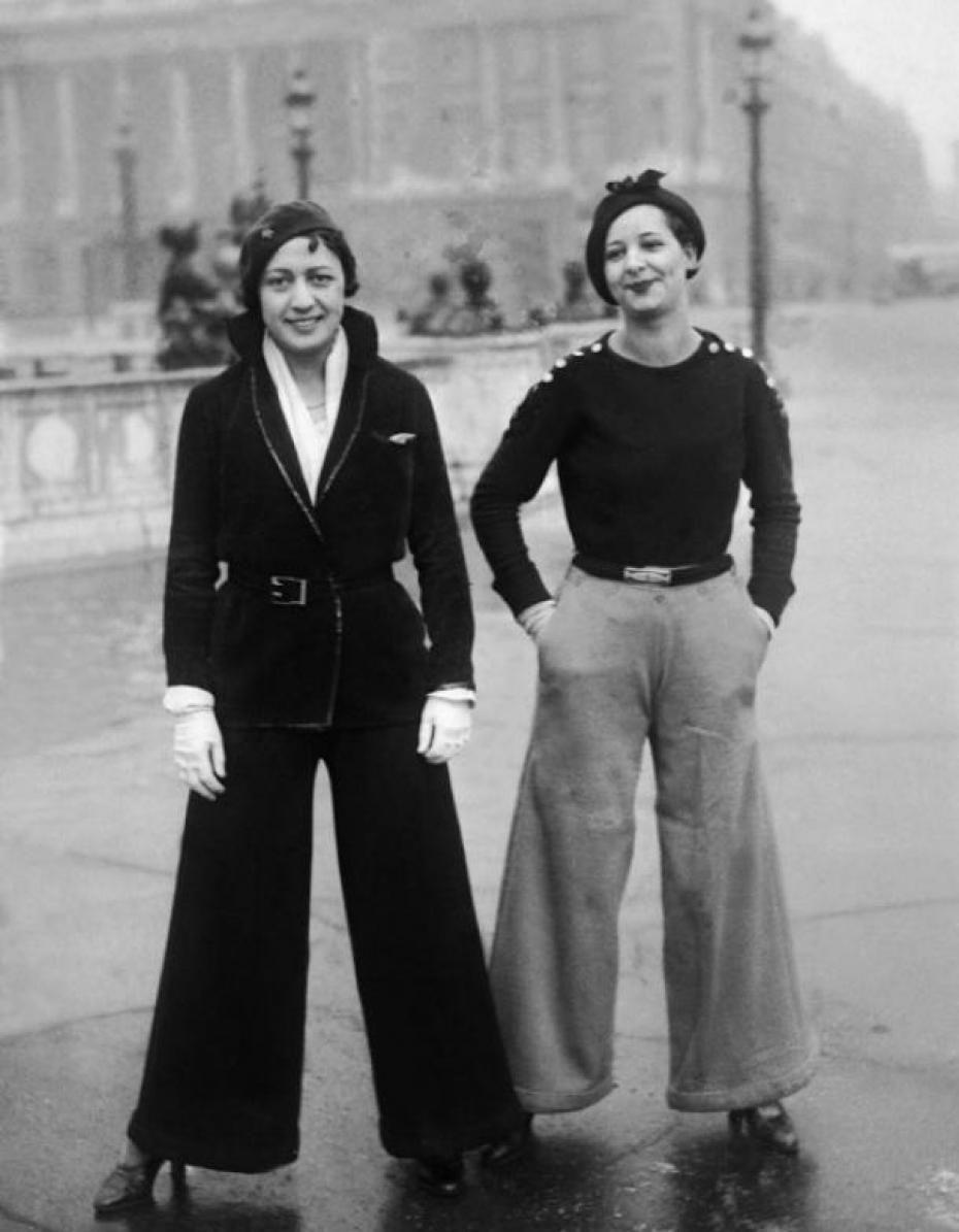 pantalon femme année 20