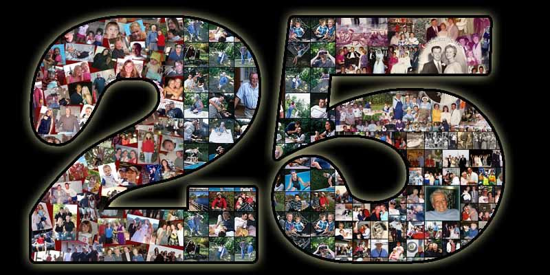 Surprise 25th Birthday Gift Ideas For 25 Year Old Wife Creative Photo Collage Turning Www Photoartomation