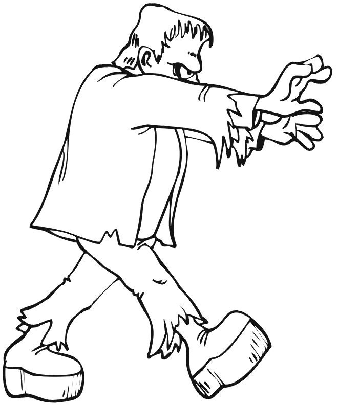 Ghost Frankenstein Coloring Pages - Ghost Cartoon Cartoon Coloring ...