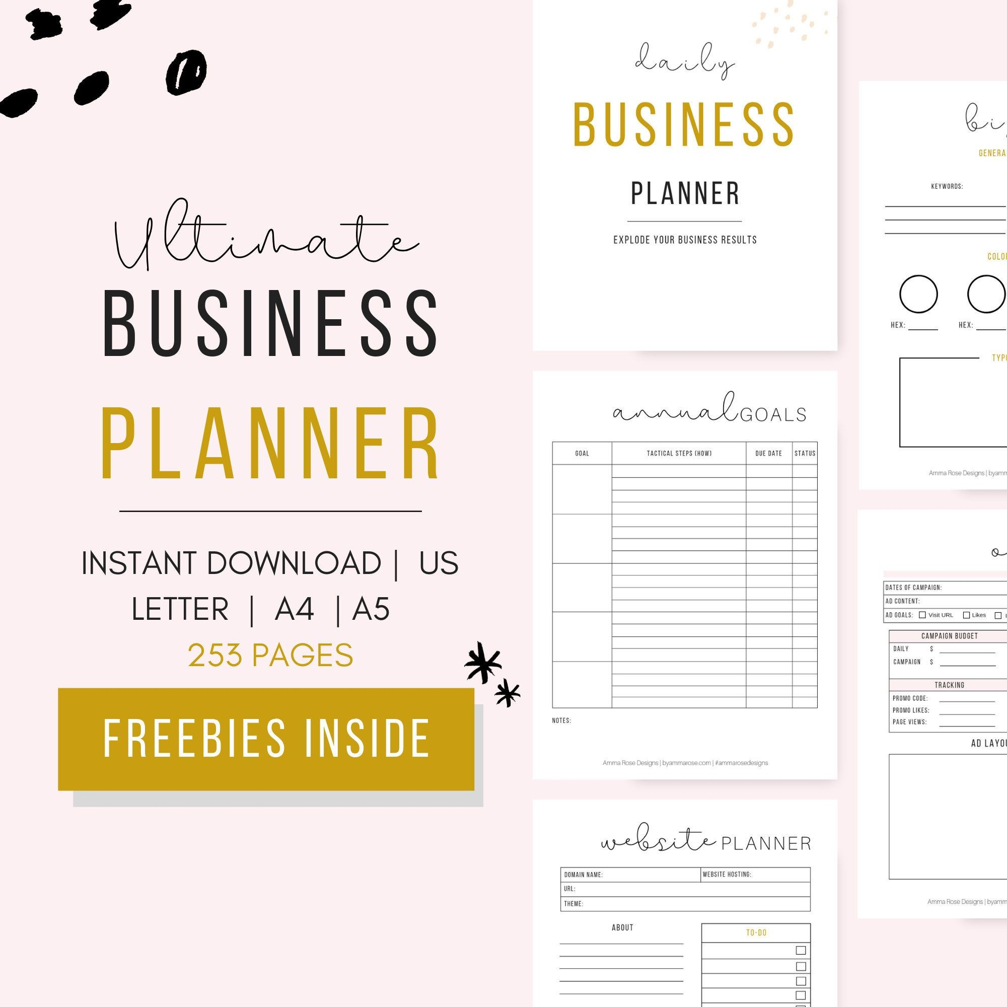 Business Planner Printable