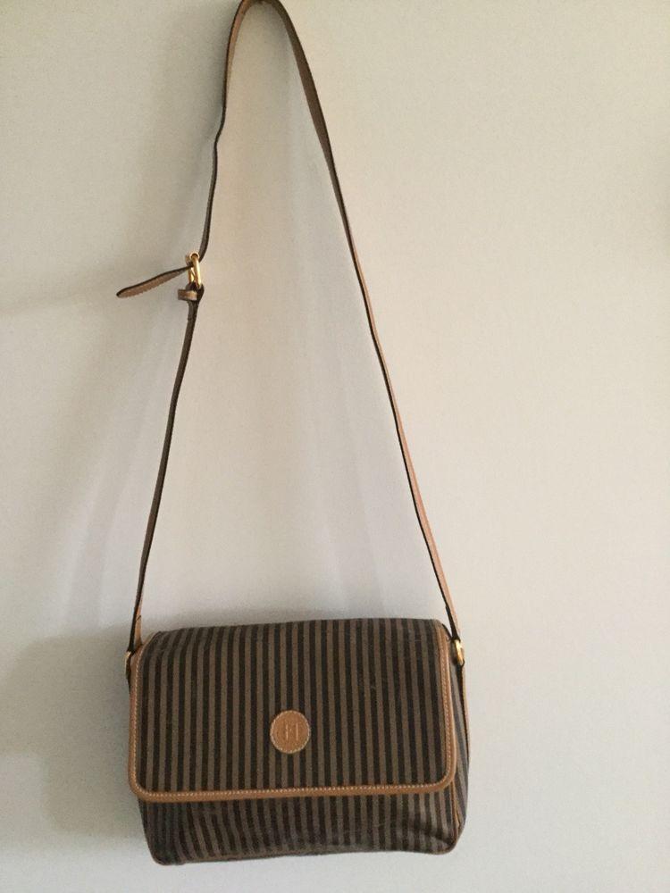 Vintage Fendi S.A.S 291-254900-038 Canvas Brown Shoulder Bag  fashion   clothing  shoes  accessories  womensbagshandbags (ebay link) 57fff5c5c26c7