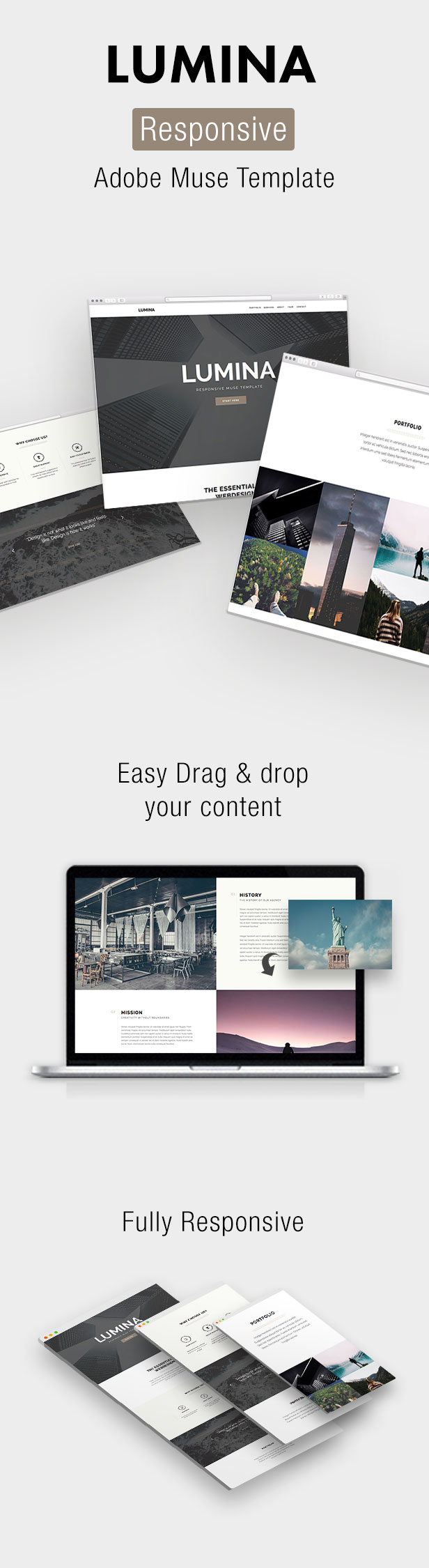 Lumina - Responsive OnePage Muse Template (Creative) Nulled - http ...