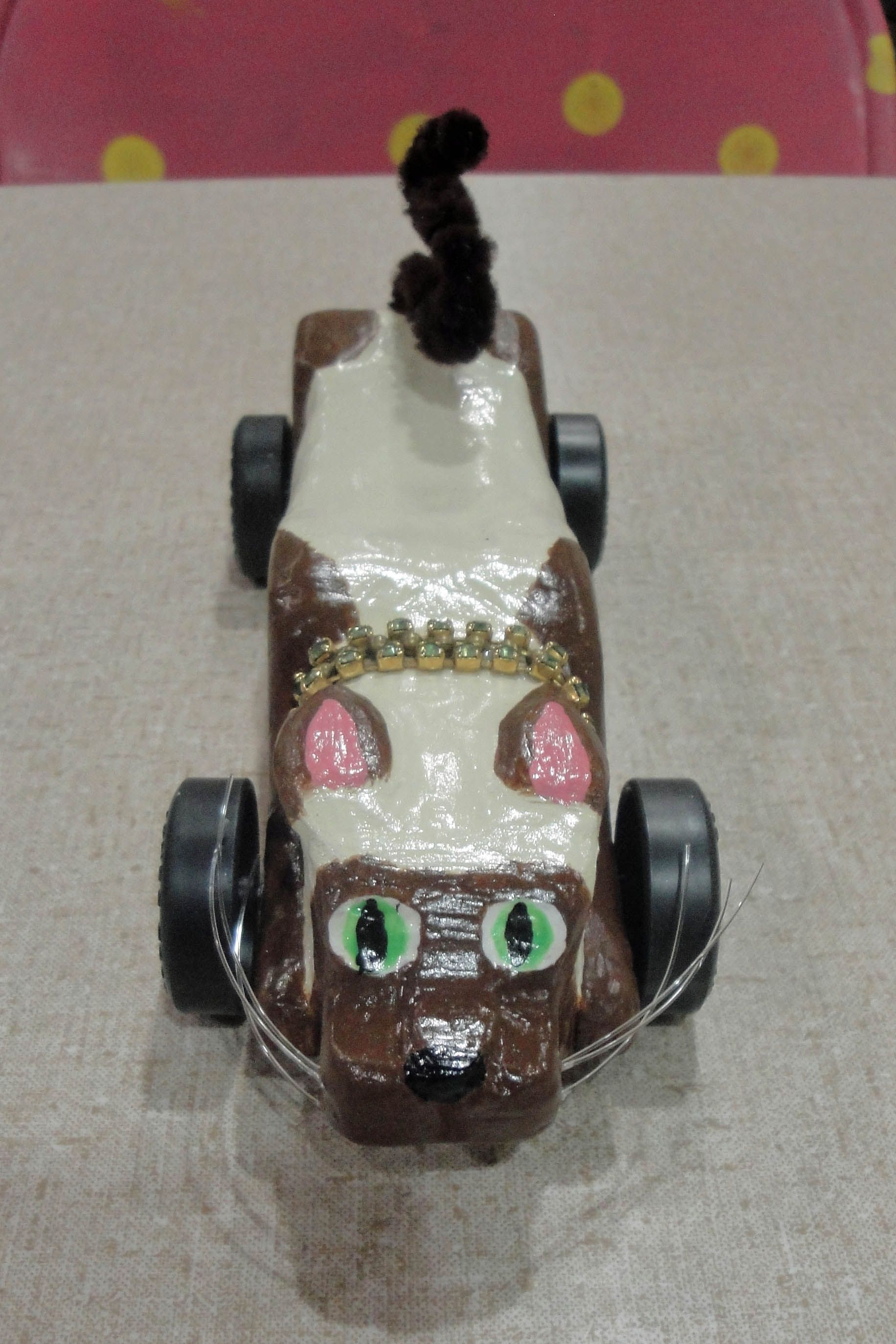 Siam the Cat Pinewood Derby Car that I made | Cub scout | Pinterest