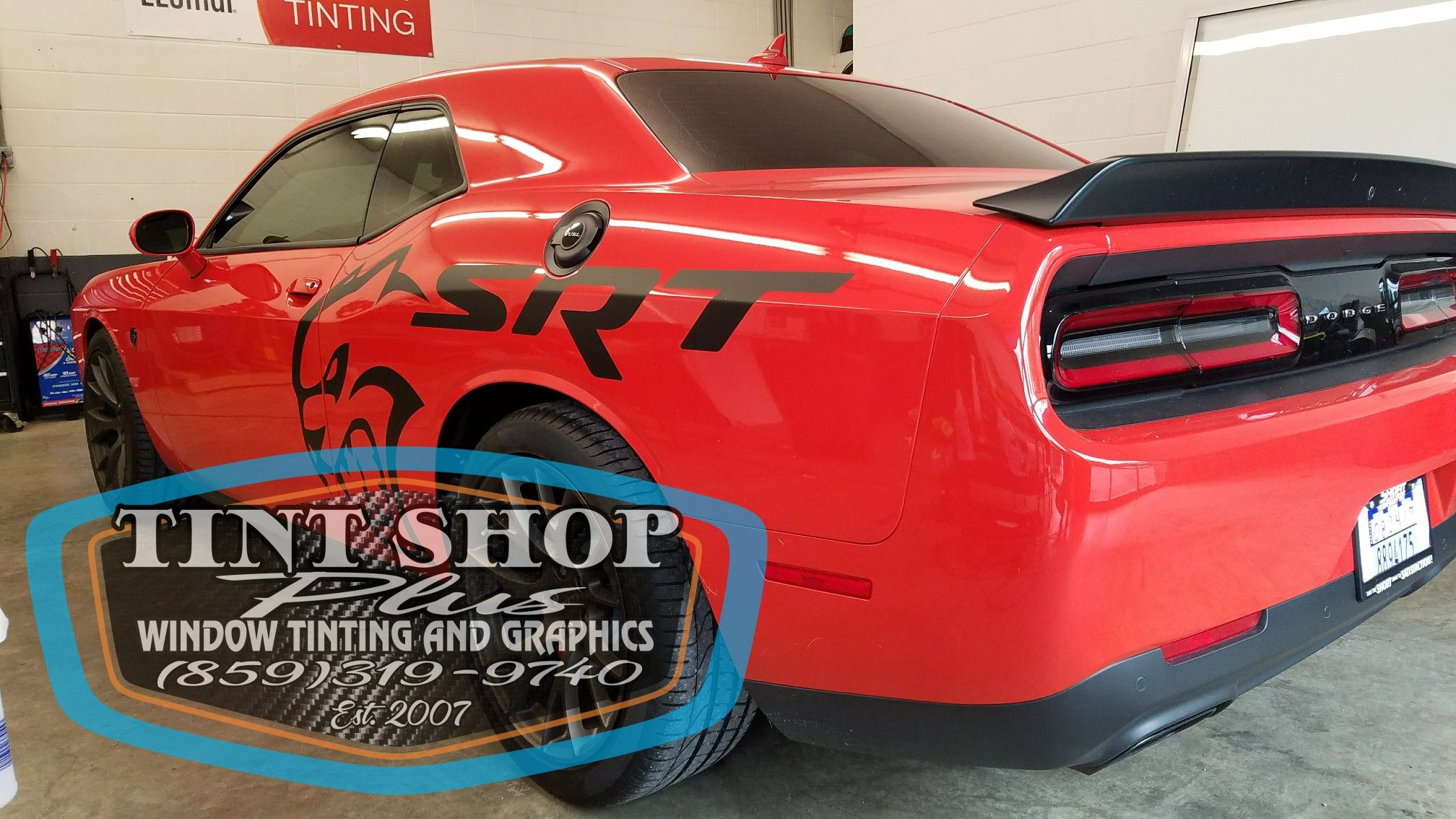 Hellcat gets tinted windows and ready for delivery windows
