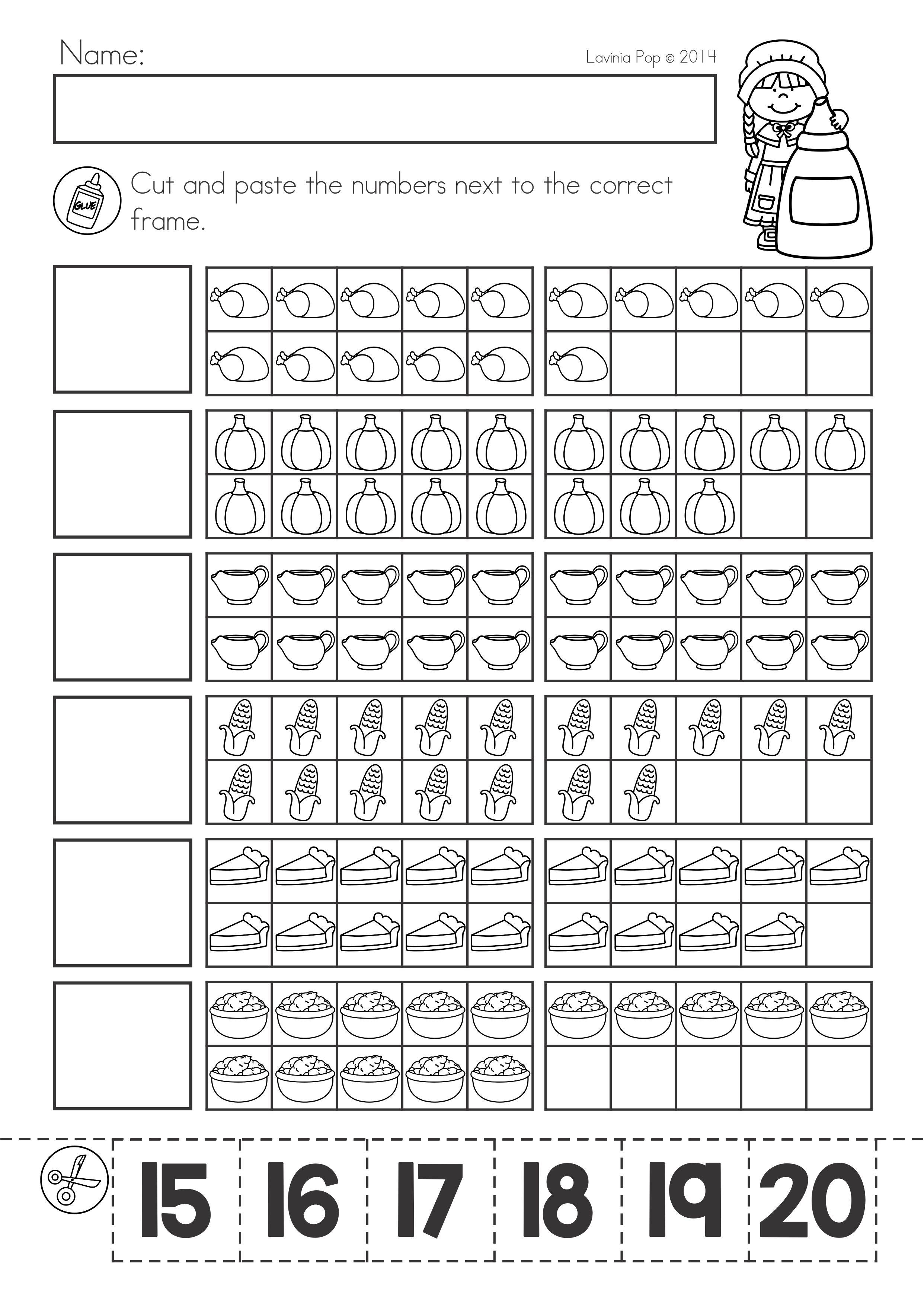 Thanksgiving Math Literacy Worksheets And Activities For Kindergarten Match Th Kindergarten Math Worksheets Literacy Worksheets Thanksgiving Math Worksheets