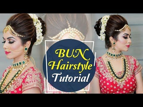 Bun Hairstyle Tutorial Step By Step Indian Bridal Hairstyle