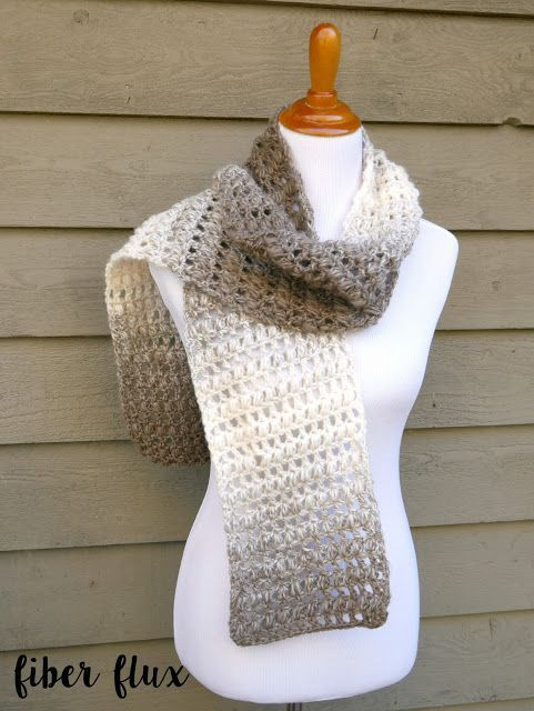 Make this beautiful and classic scarf with just one skein of Lion ...