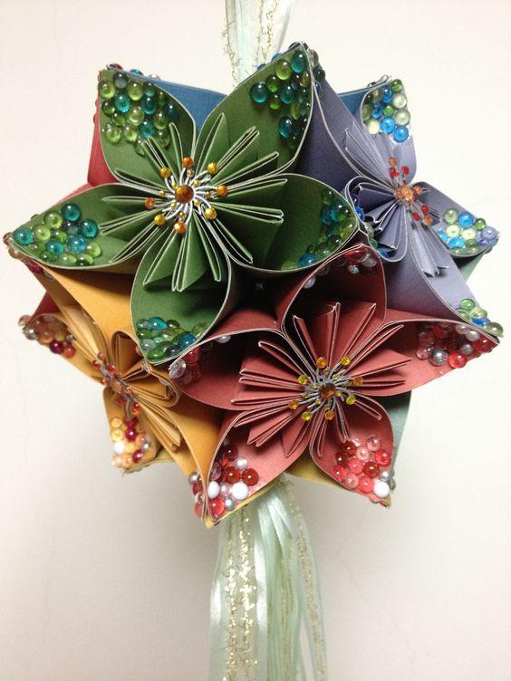 Ball flower scrapbook origami flowers pinterest other origami flowers paper flowers flower ball handmade flowers kusudama hard to paper art revenue paper mightylinksfo