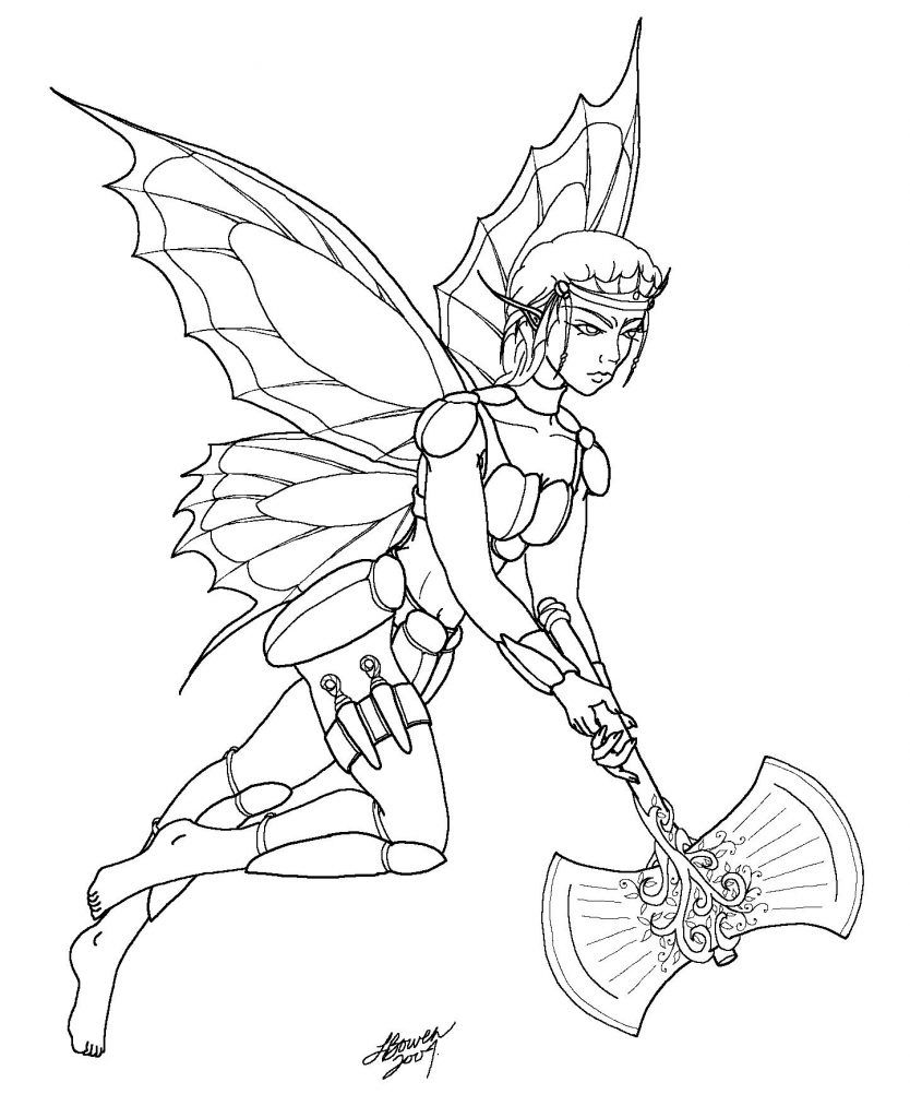 Gothic Fairy Coloring Pages Fairy Coloring Pages Fairy Coloring