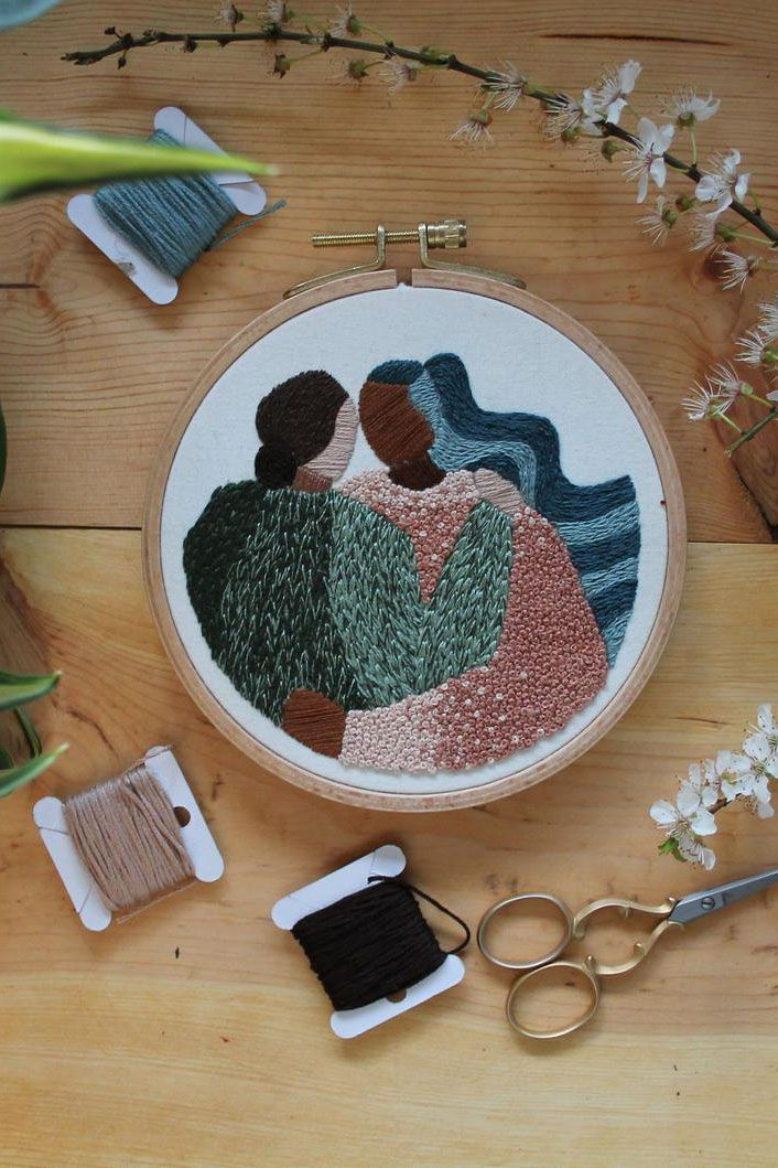 Download this pattern and instructions to make your very own embroidery project. This pattern is perfect for the confident beginner, covering everything you need to recreate this pattern, with a few fun techniques.