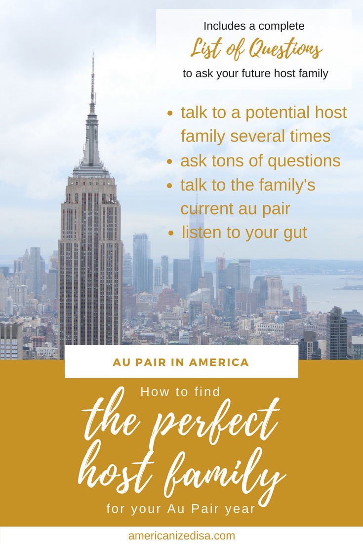 Finding the perfect host family for your Au Pair year ...