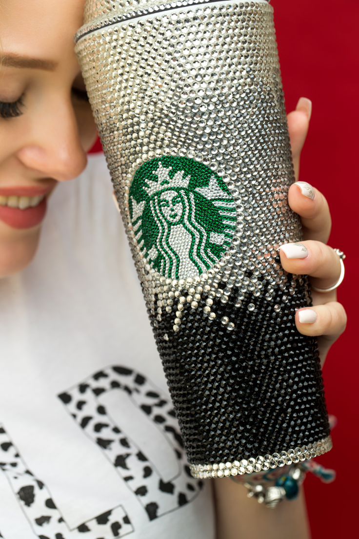 Photo of Personalized Starbucks Cup, JLO Tumbler Starbucks Tumbler, Crystal Starbucks Tumbler