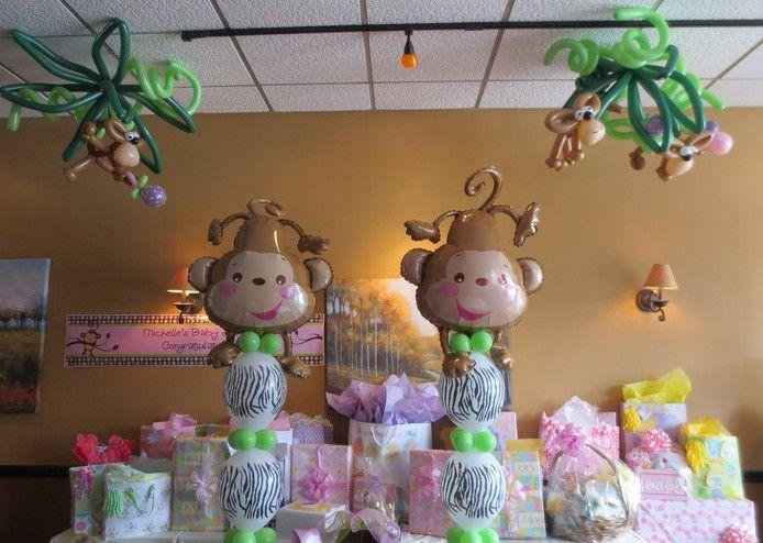 Twin Monkey Baby Shower Theme Gender Reveal Pinterest Monkey