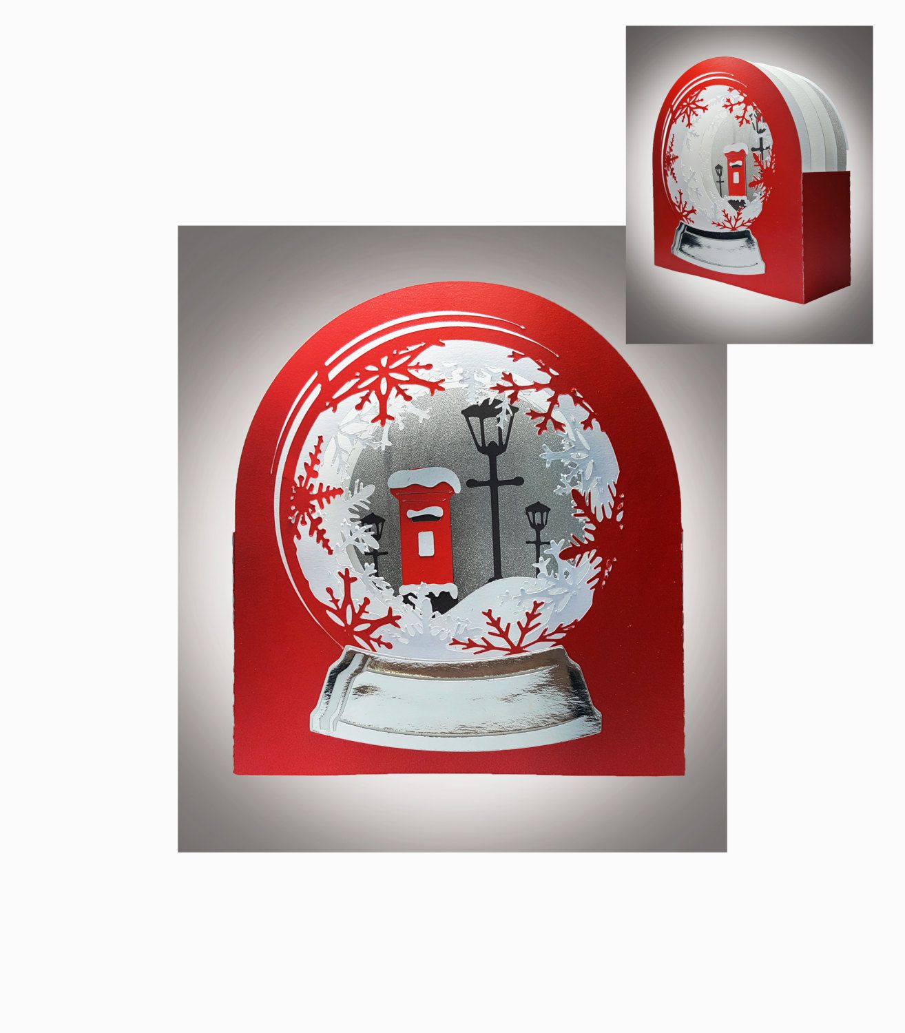 Snow globe card red letter box template letter boxes box snow globe card red letter box template by mysvghut on etsy spiritdancerdesigns Image collections