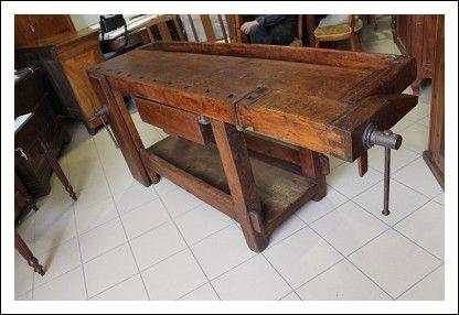 Tavolo Da Lavoro Antico : Antico banco da lavoro falegname umbro restaurato epoca con