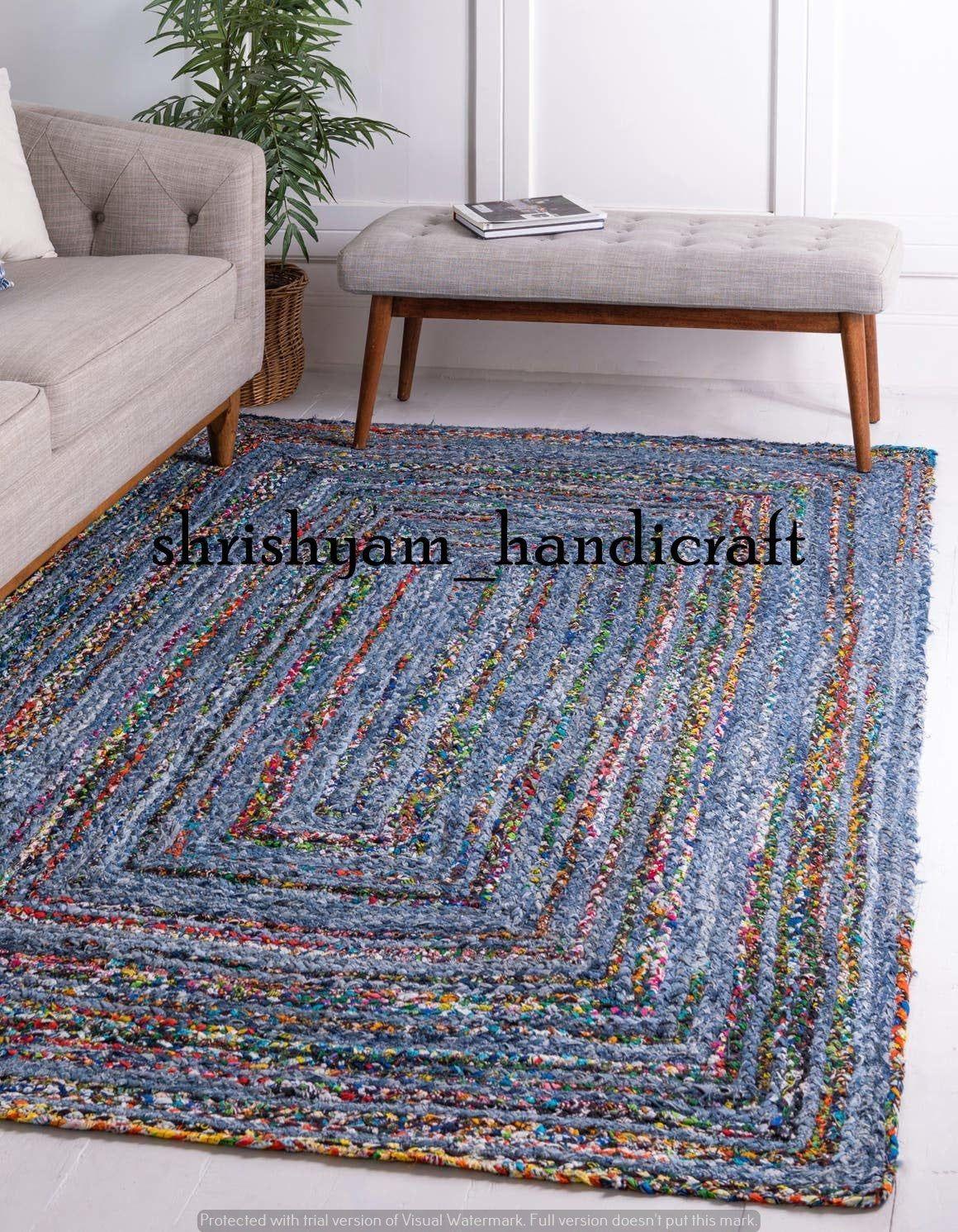 Hand Braided Bohemian Colorful Cotton Chindi Area Rug Multi Colors Home Decor Rugs Cotton Area Rugs 6x9 Feet Rug Rag Area Rug Braided Rugs In 2020 Braided Rugs Cotton Area Rug