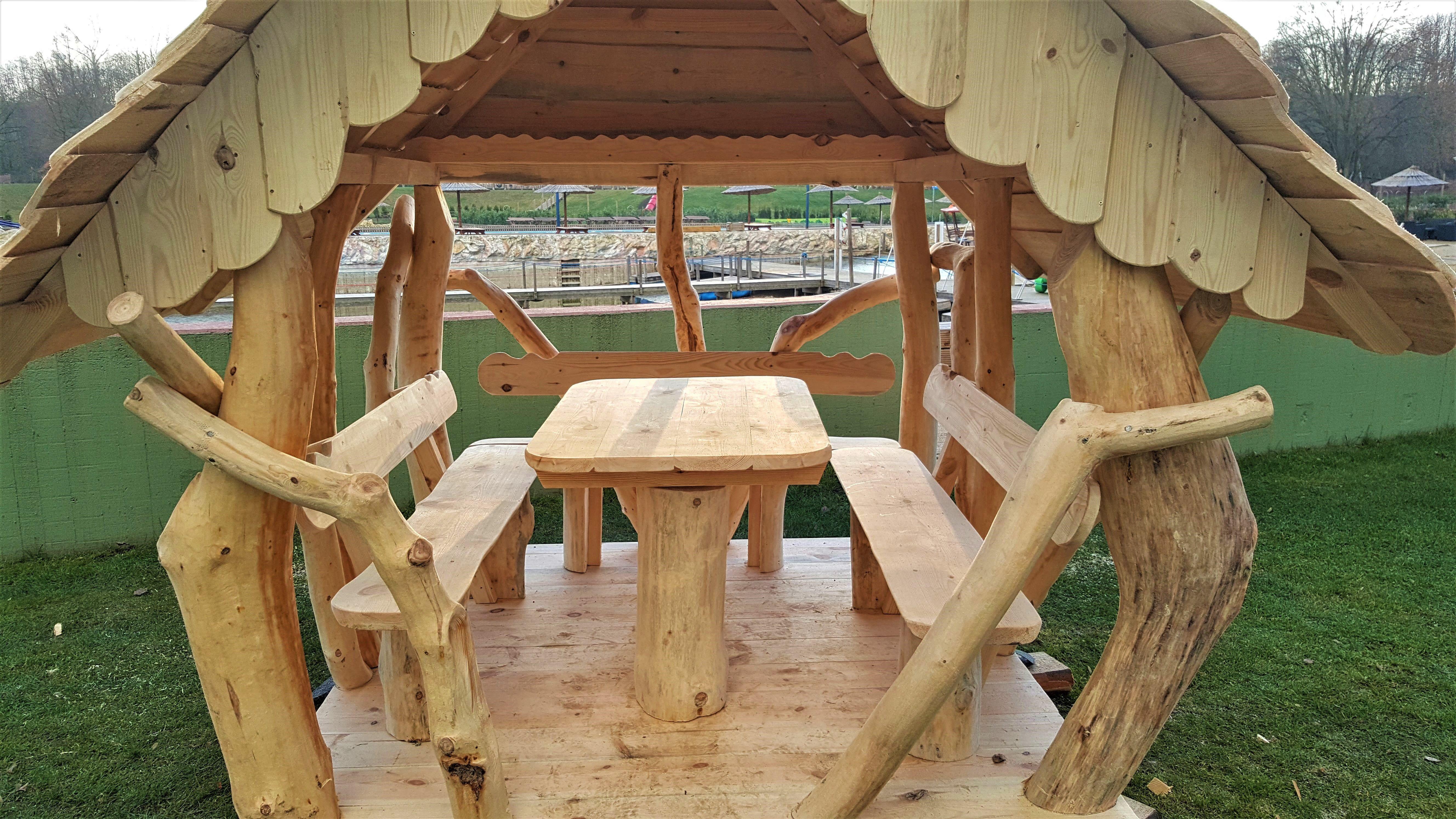 Rustikaler Gartenpavillon In 2021 Garten Pavillon Holz Pavillon Pavillon