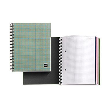 Miquelrius Tartan Green Subject Notebook Graph Ruled  X