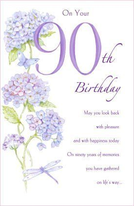 90th Birthday Card 530979