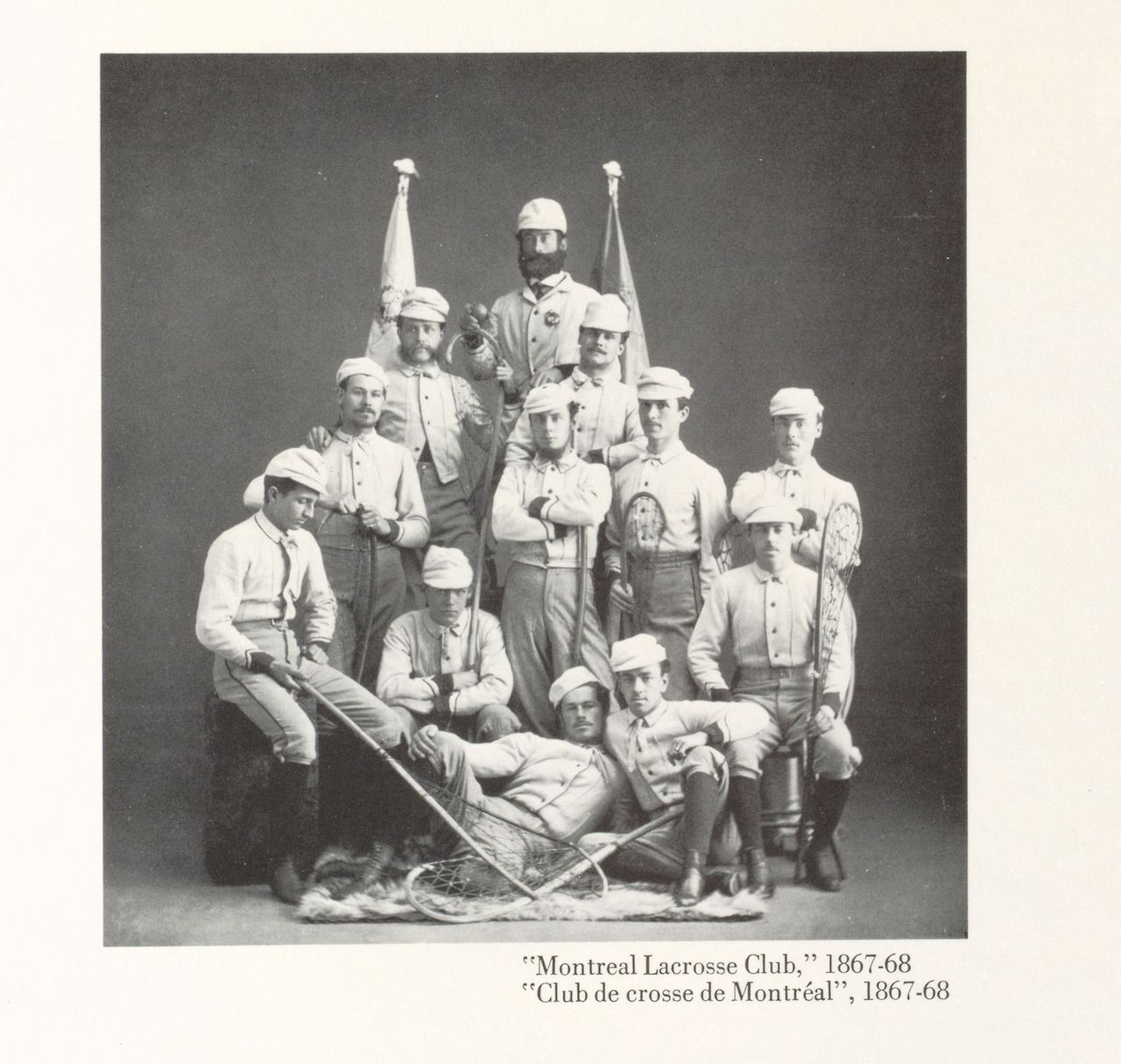 """Montreal Lacrosse Club 1867 from """"Images of Sport in Early"""