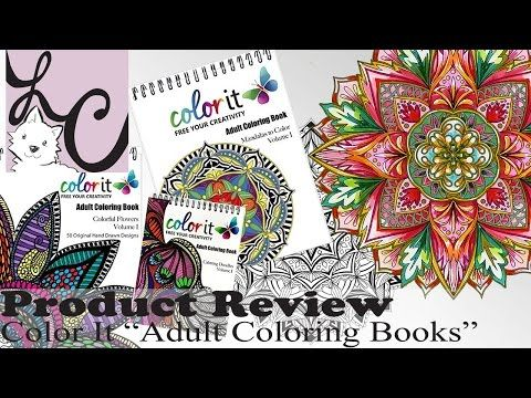 Art Supply Product Review Color It Adult Coloring Books GIVEAWAY Speed