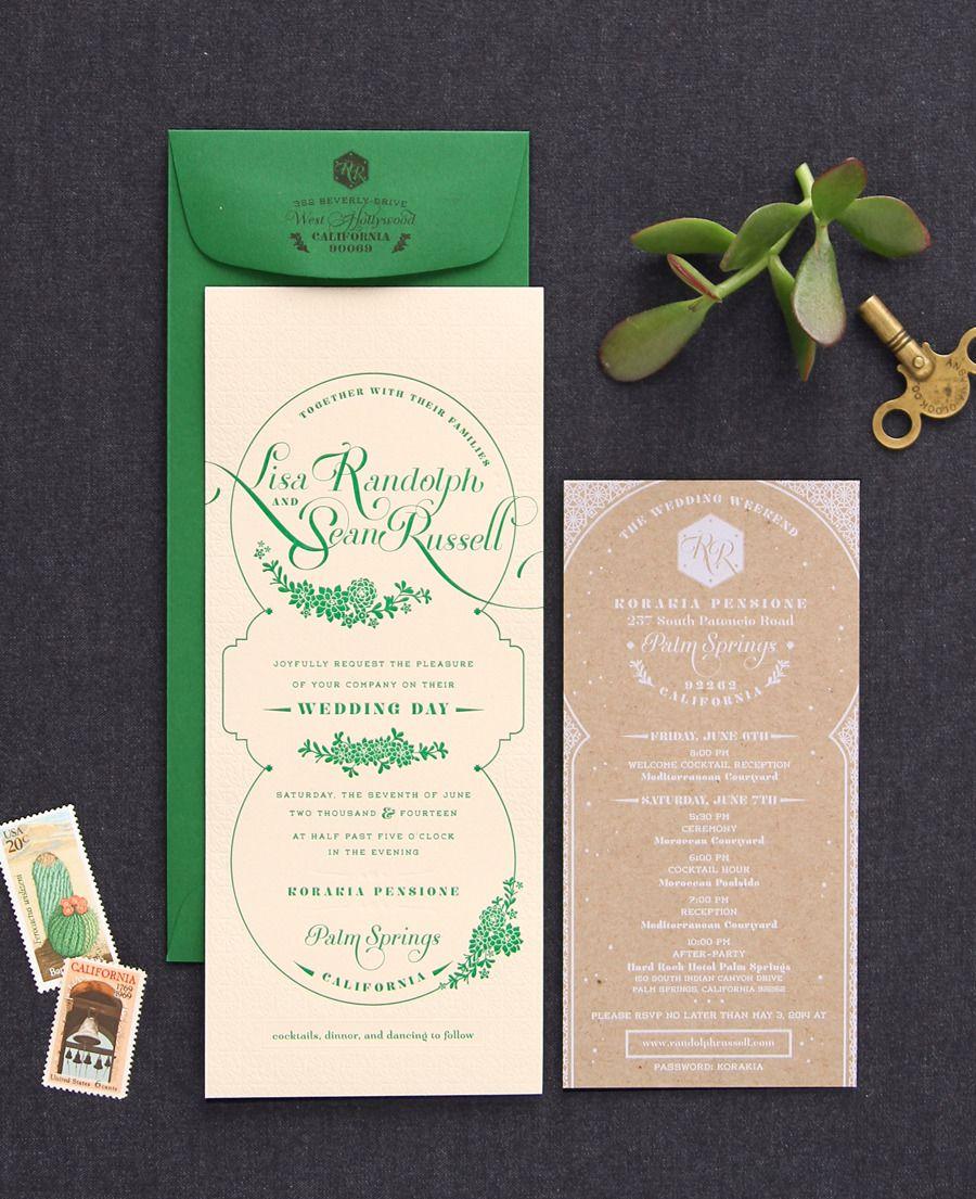 Moroccan Inspired Wedding Invitation Letterpress Wedding Invitations Wedding Invitations Wedding Invitations Stationery