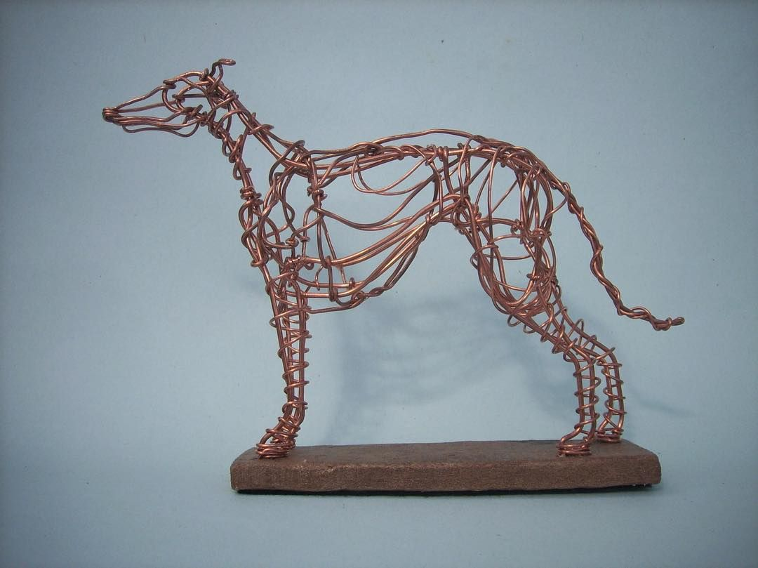 How fabulous is this wire sculpture?! Helen Gray of Twisted Horse ...