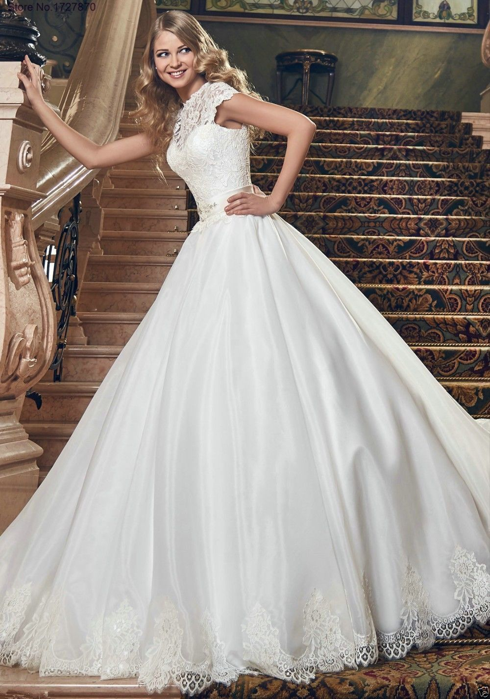 Wedding dress for older bride  Gorgeous WhiteIvory Appliques Wedding Dresses  Aline Bridal