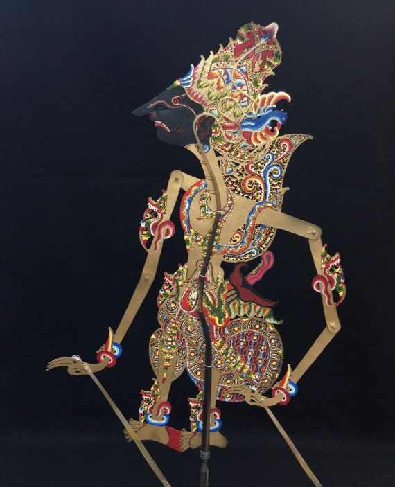 Wayang Kulit Shadow Puppet Kresna From Java By