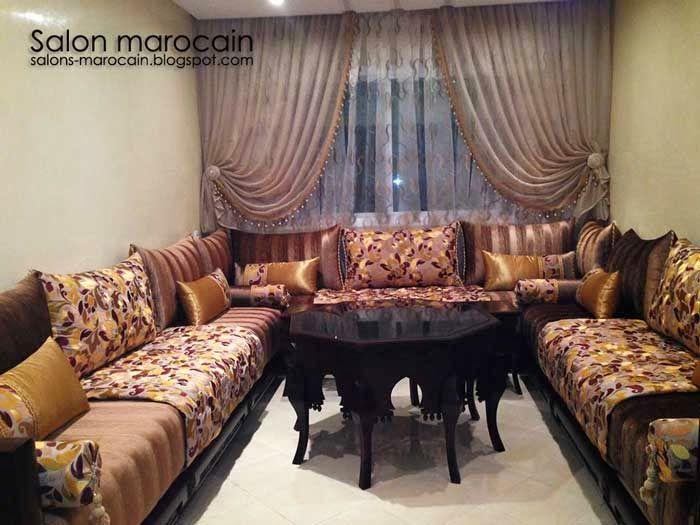 Salon marocain noir séduisantSalon Marocain Moderne 2014 salon