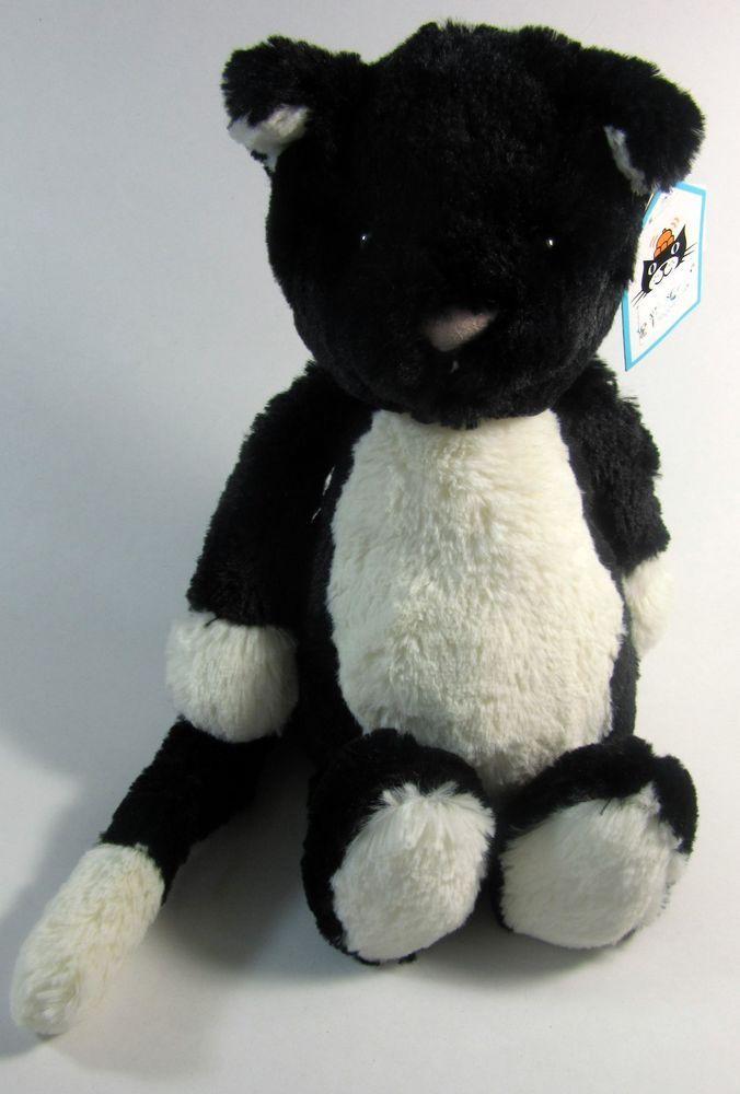 63226f64d Jellycat Bashful Cat Plush Black White Medium Kitty London Soft Toy Stuffed  New #jellycat