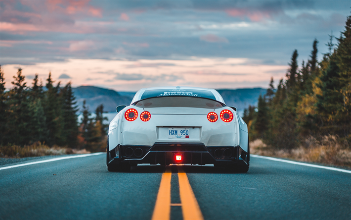 Download Wallpapers 4k Nissan Gt R Road Tuning Supercars R35 Tunned Gt R Japanese Cars Nissan Besthqwallpapers Com Nissan Gt R Nissan Gt Nissan