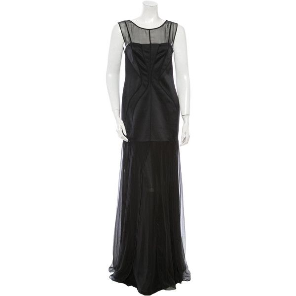 Pre-owned Alberta Ferretti Silk Gown ($285) ❤ liked on Polyvore ...