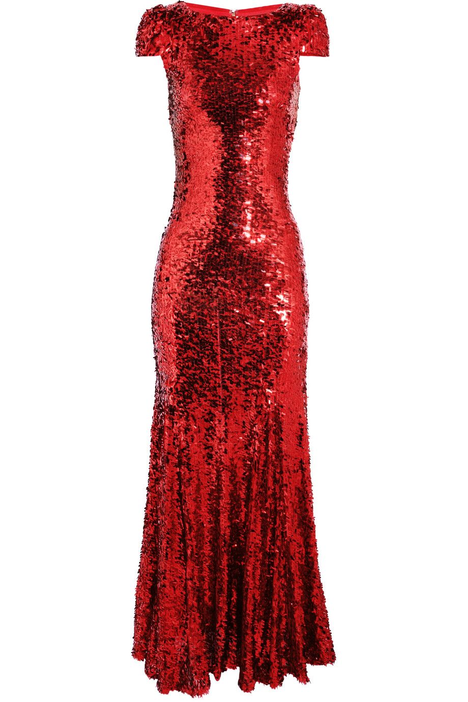 Rachel gilbert simone sequined gown frocks sparkles red armario