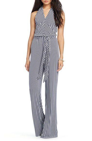 278d5094acd1 Lauren Ralph Lauren Stripe Jersey Wide Leg Halter Jumpsuit (Regular    Petite) available at  Nordstrom