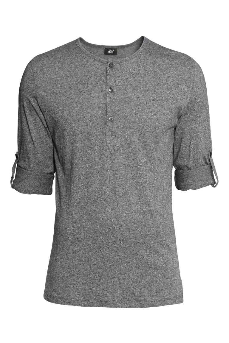 83d0366f0149 T-shirt à col tunisien en 2019   Mode homme   Henley shirts, Shirts ...