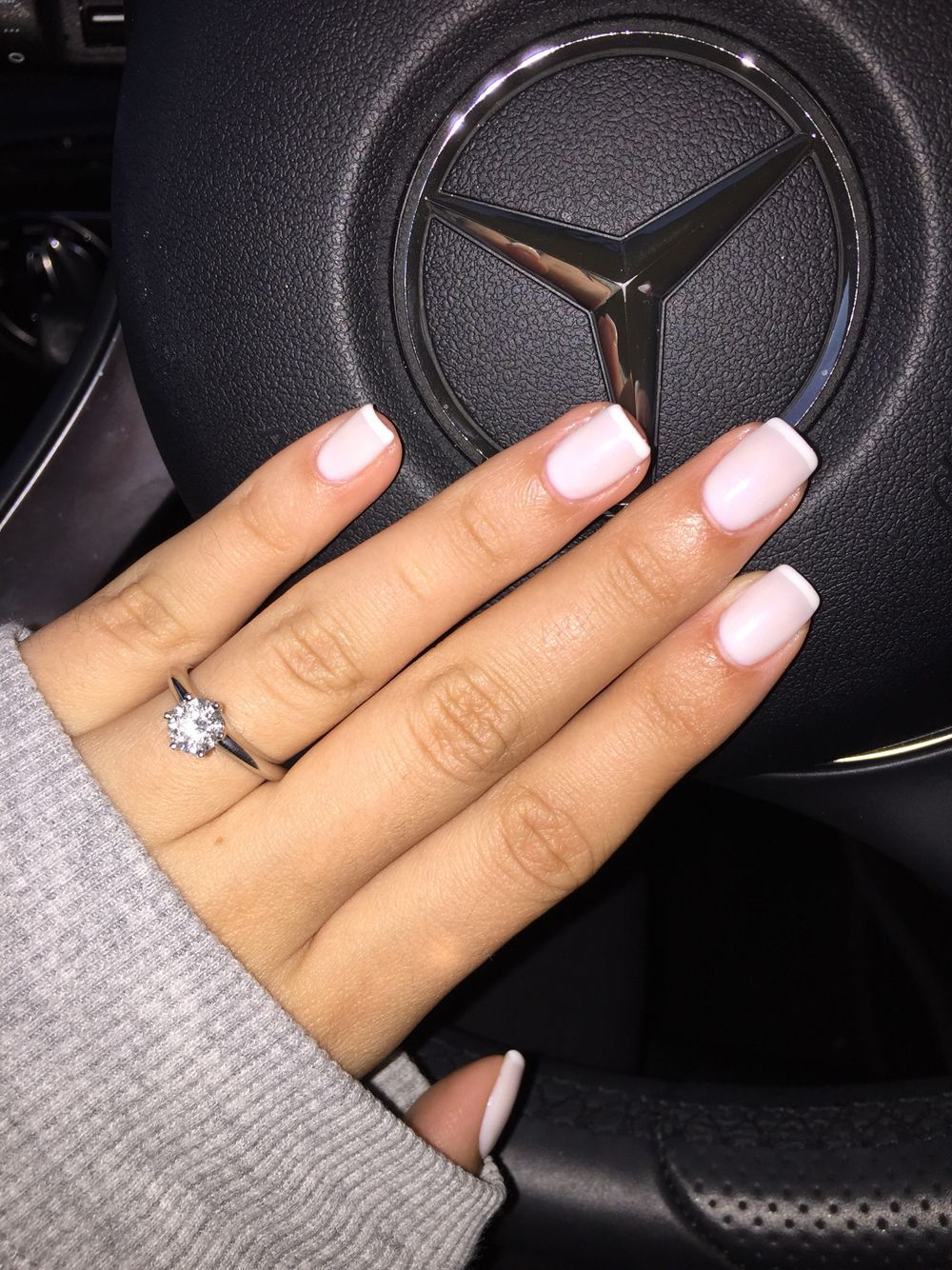Funny Bunny OPI gel with Alpine Snow OPI at the tip (signature ...