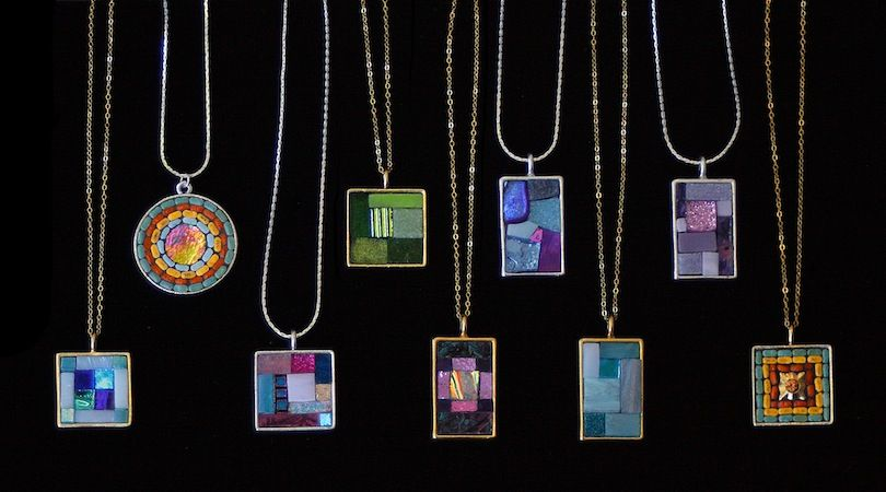 Mosaic jewelry by Glynnis Kaye