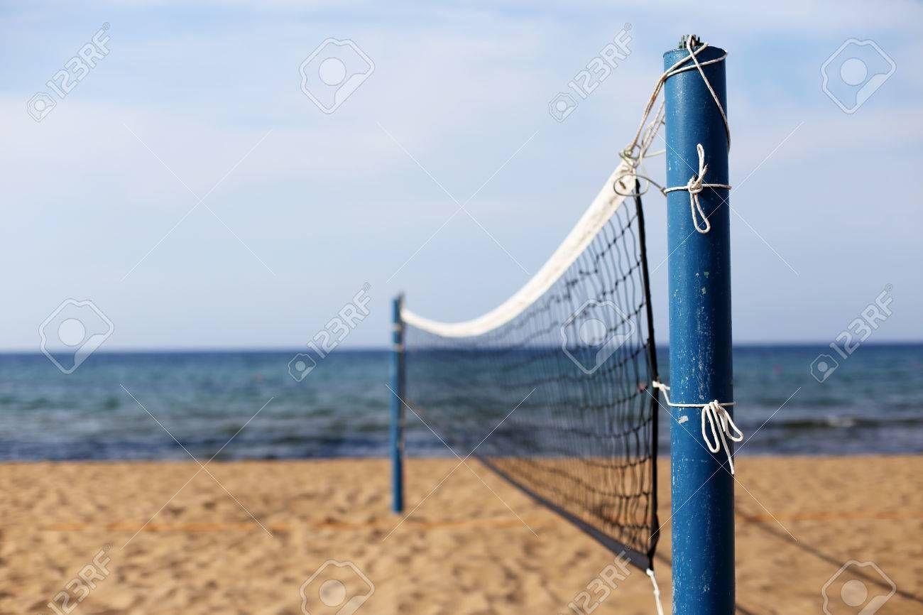 An Empty Beach Volleyball Court Spon Beach Empty Court Volleyball Beach Volleyball Court Beach Volleyball Volleyball