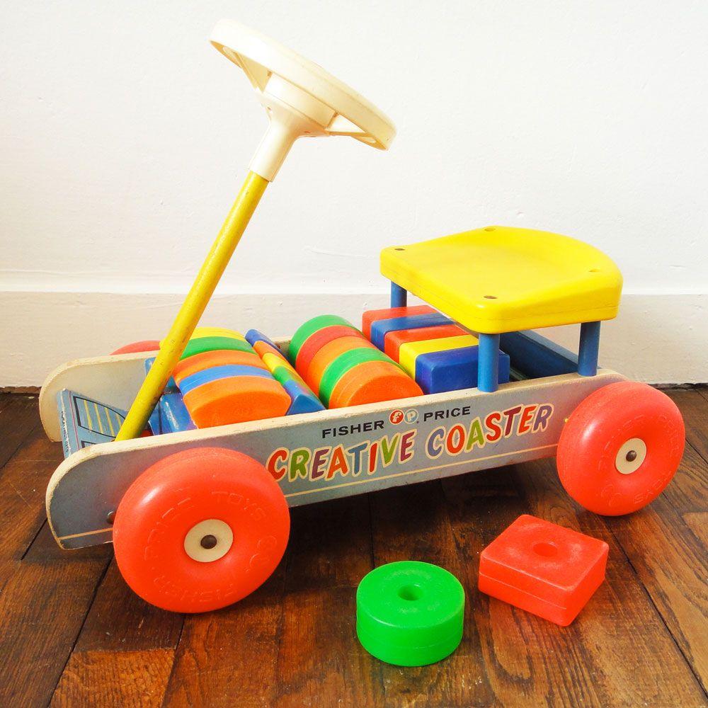 fisher price jouet camion porteur vintage creative coaster toy amor es recuerdos de. Black Bedroom Furniture Sets. Home Design Ideas