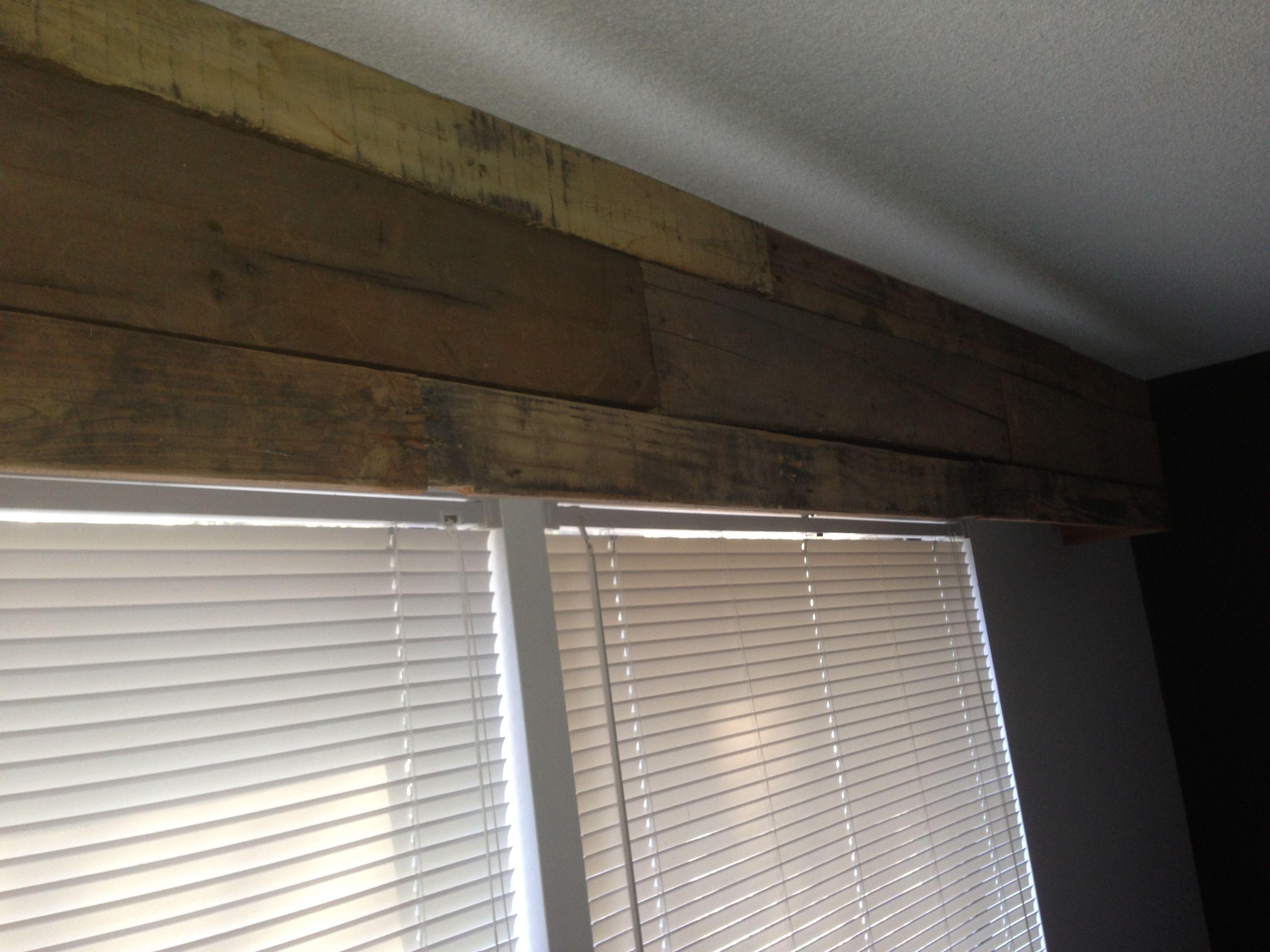 pallets wooden window valance